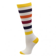 Ultra Soft Sporty Stripe Compression Sock - Regular - 94685