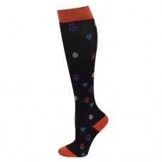 Ultra Soft Peace, Love Compression Sock - Regular - 94686