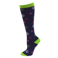 Ultra Soft Peace, Love Compression Sock - Regular - 94687