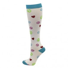 Ultra Soft Peace, Love Compression Sock - Regular - 94688