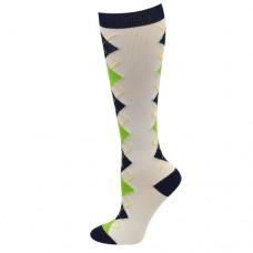 Ultra Soft Argyle Compression Sock - Regular - 94691