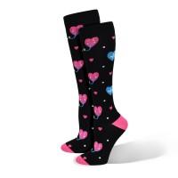 Premium Smiley Hearts Fashion Compression Sock - 94787