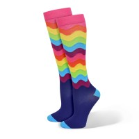Premium Rainbow Wobble Fashion Compression Sock - 94797