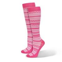 Premium Pink Fairy Stripes Fashion Compression Sock - 94798