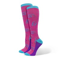 """Ultra""  Stethoscope  Fashion Compression Sock - 94888"