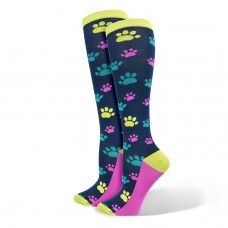"""Ultra"" Paw Print Fashion Compression Sock - 94889"